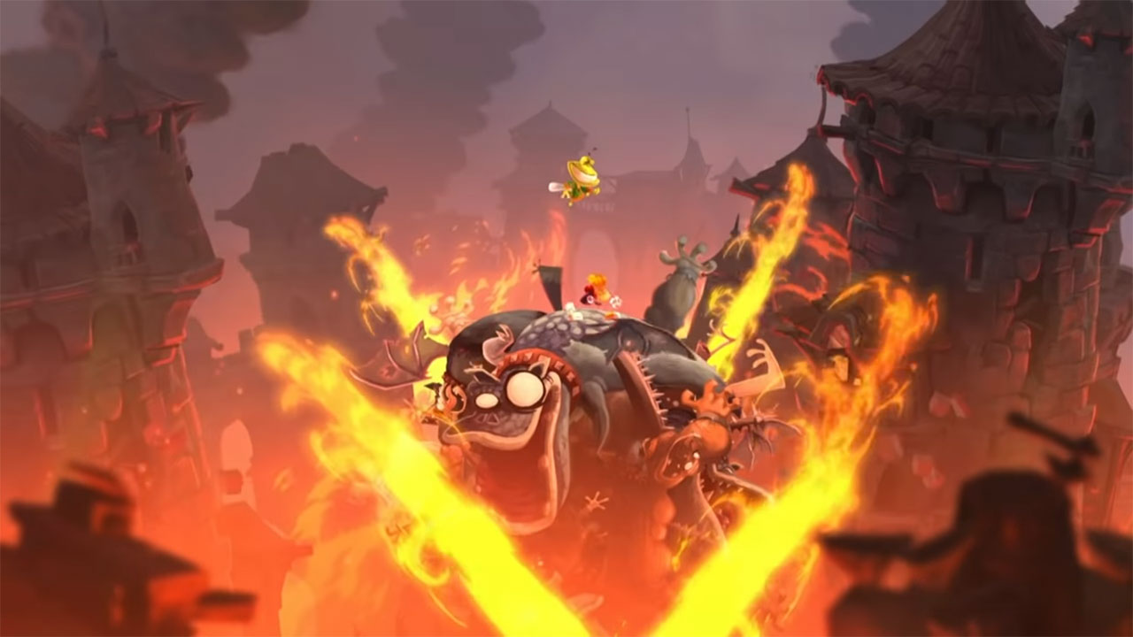 Rayman Legends - Castle Rock Gameplay Footage