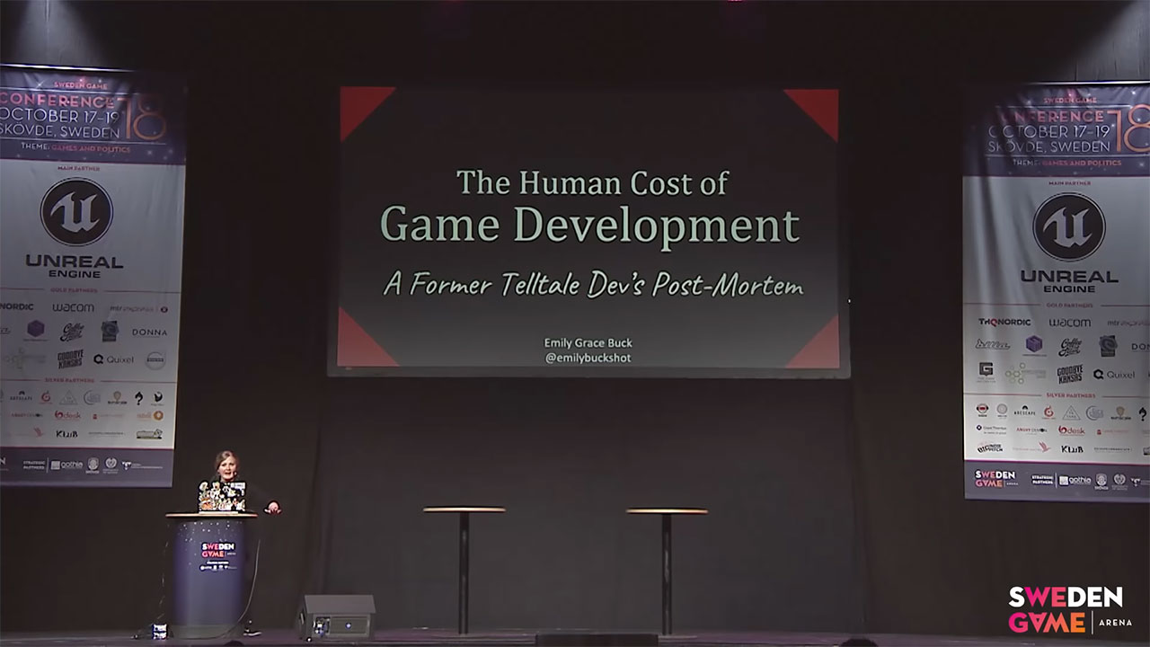 SGC18: Emily Grace Buck - The Human Cost of Game Development: A Former Telltale Dev's Post-Mortem